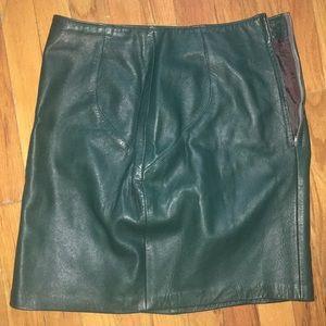 Dresses & Skirts - *VINTAGE* REAL Leather skirt
